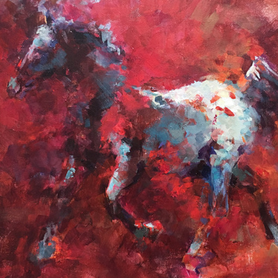 Painting of an Appaloosa Horse acrylic painting by NancyJeanette Long