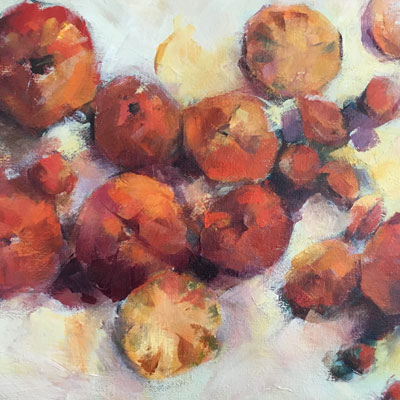 Still Life Painting of Tomatoes by NancyJeanette Long