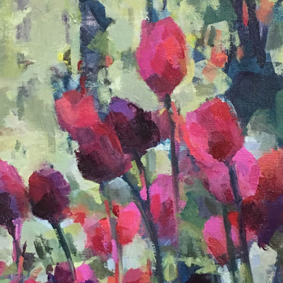 Painting of Tulips in the Garden acrylic painting by NancyJeanette Long